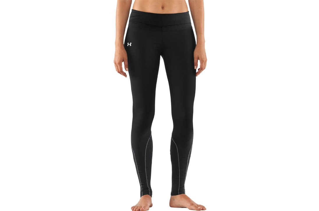 Women's ColdGear® Thermo Tights, Black , zoomed image
