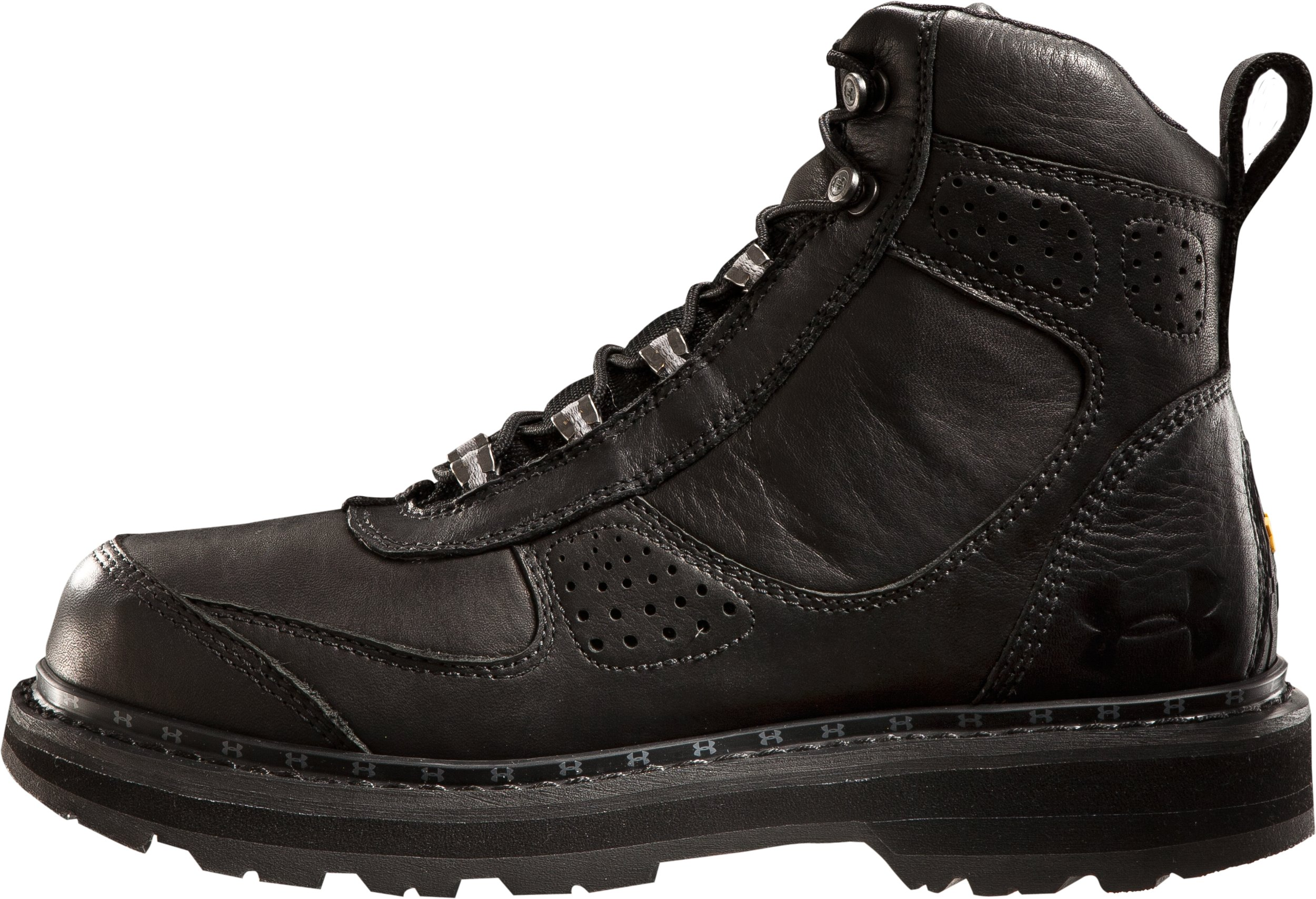 "Men's UA Lindig Leather 6.75"" Boots, Black , zoomed image"
