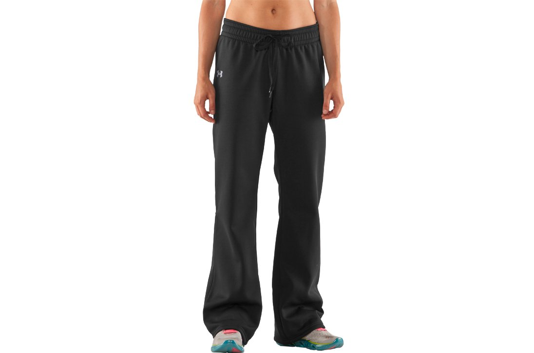 Women's Armour® Fleece Storm Pant, Black , zoomed image