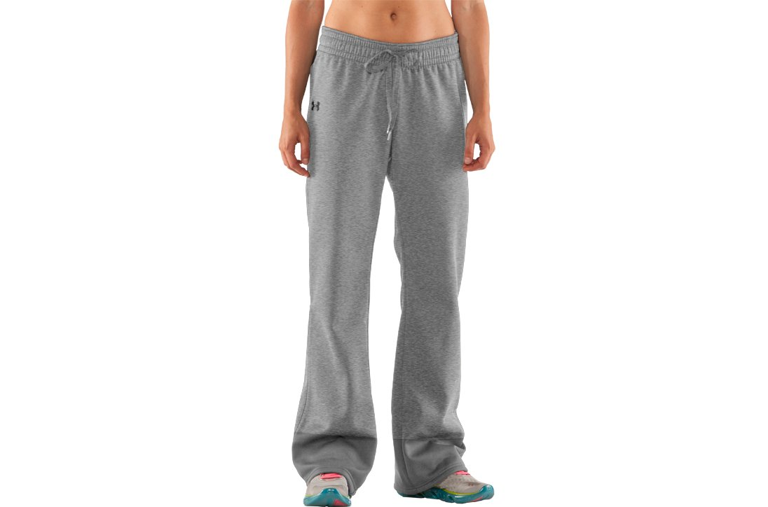 Women's Armour® Fleece Storm Pant, True Gray Heather, zoomed image