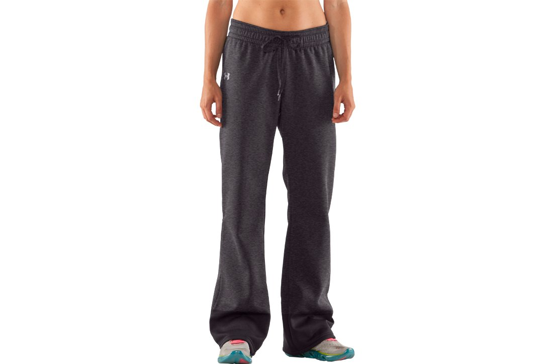 Women's Armour® Fleece Storm Pant, Carbon Heather, zoomed image