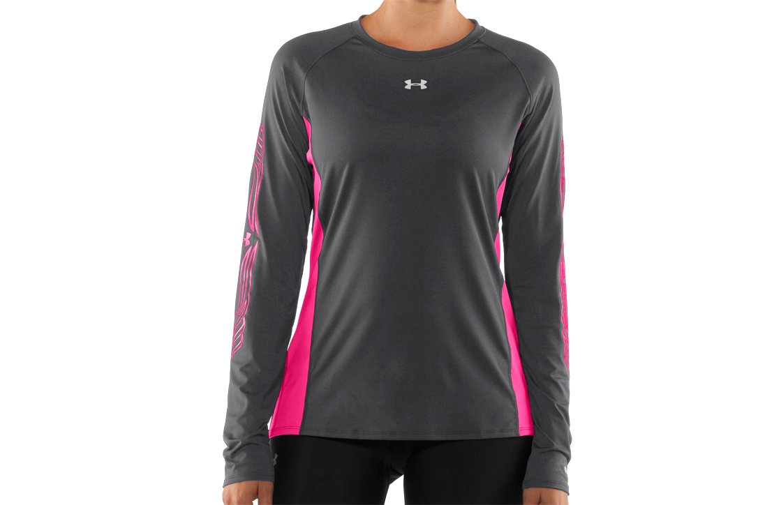 Women's UA Hockey Fitted Long Sleeve, Graphite