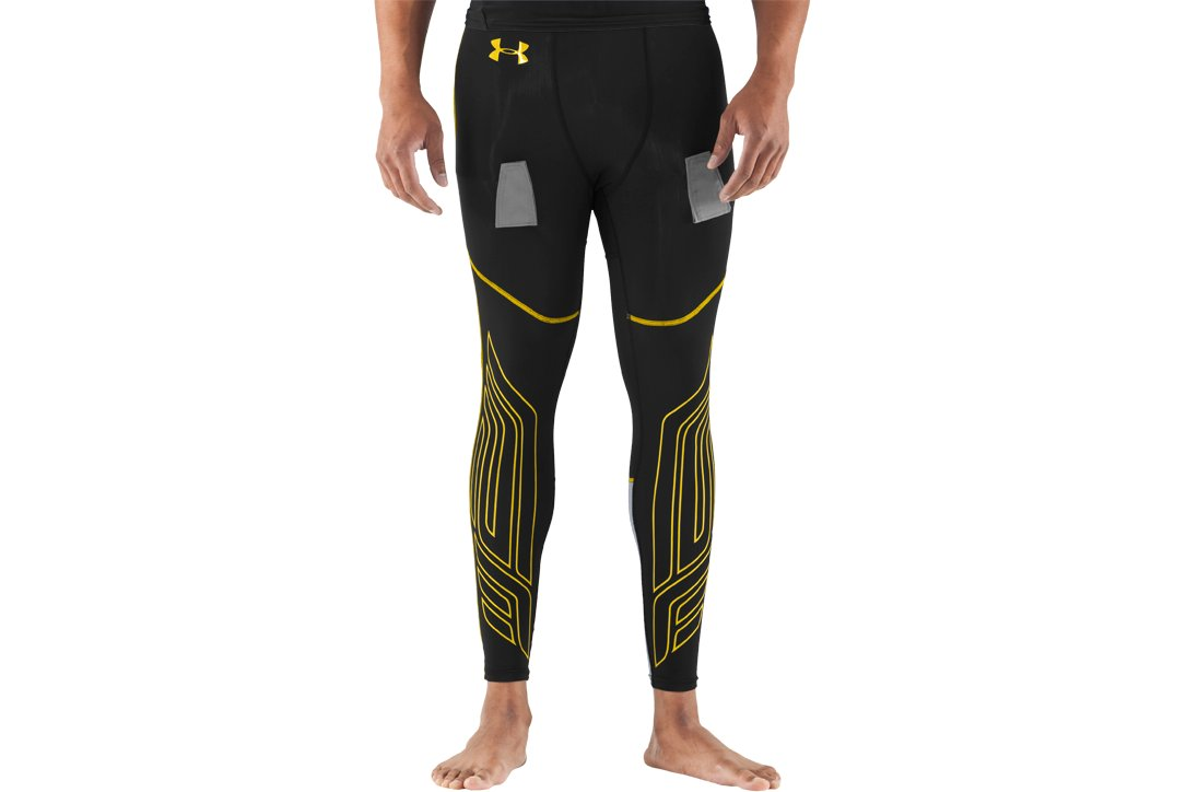 Men's UA Hockey Compression Leggings, Black , undefined