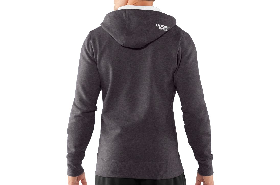 Men's Charged Cotton® Storm Full Zip Hoodie, Carbon Heather,