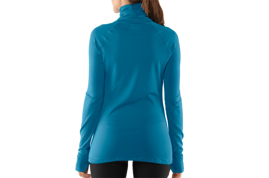 Women's UA Fly By Turtleneck, Deceit, undefined