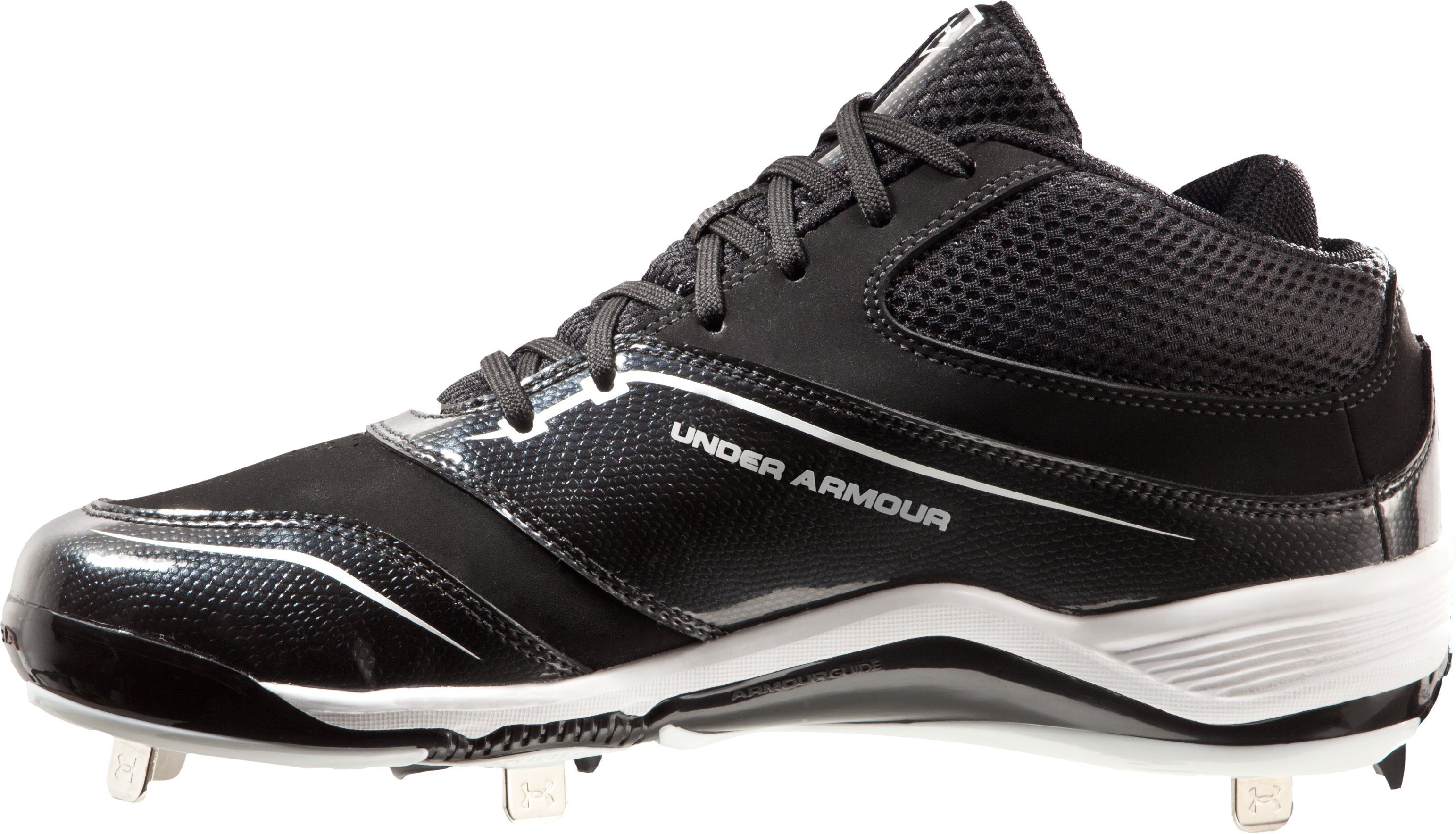 Men's UA Ignite Mid ST CC Baseball Cleats, Black , undefined