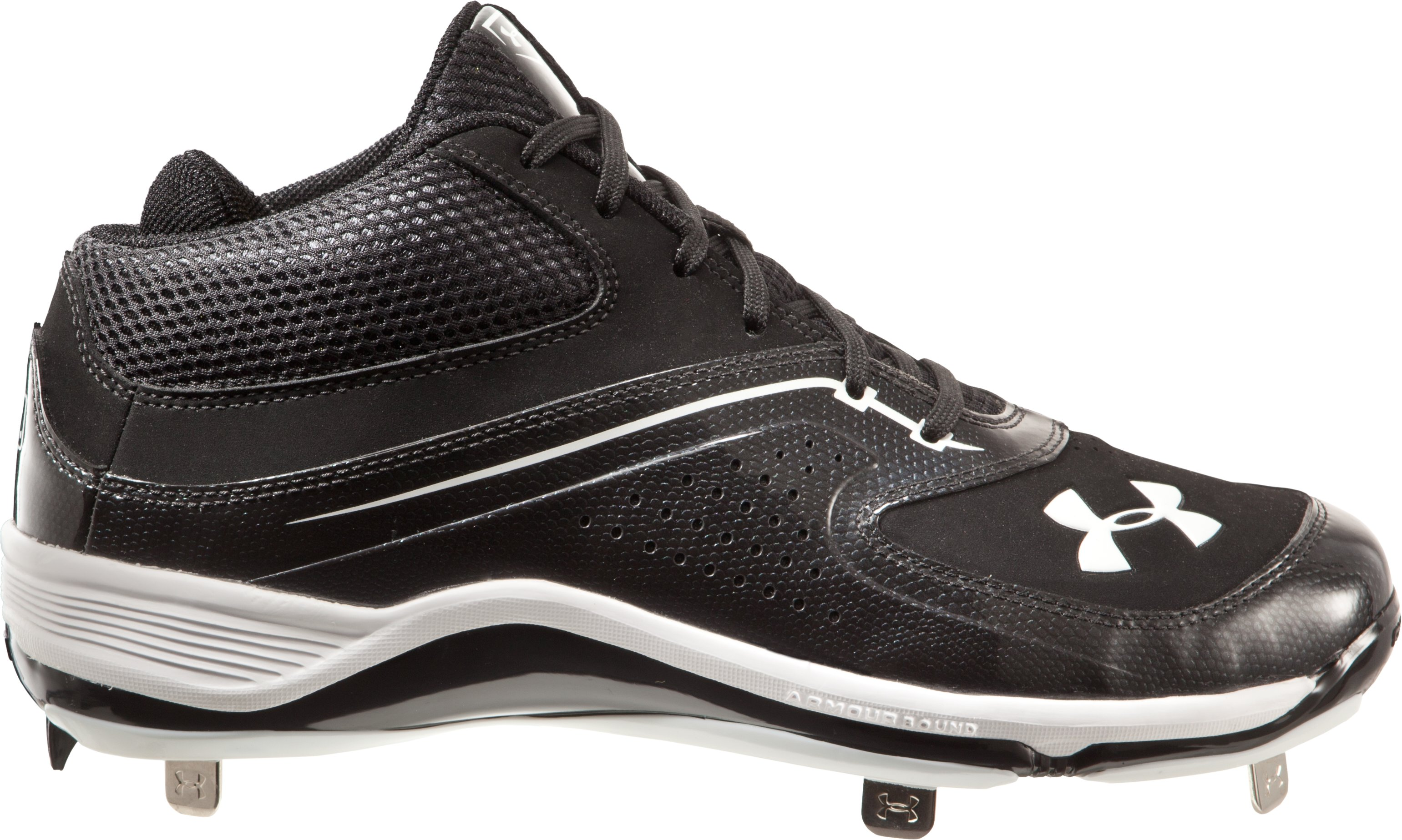 Men's UA Ignite Mid ST CC Baseball Cleats, Black