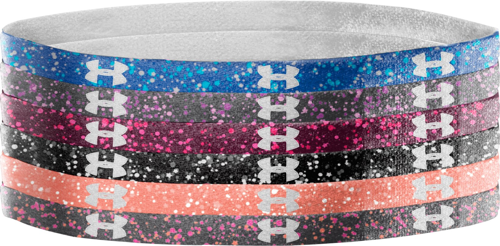 Women's UA Graphic Mini Headbands, BLU-AWAY, zoomed image