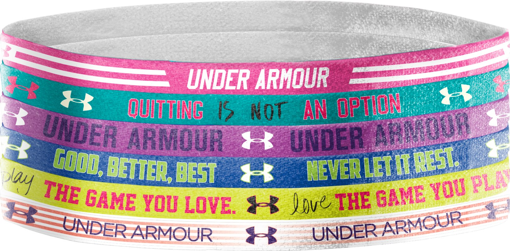 Women's UA Graphic Mini Headbands, PINKADELIC