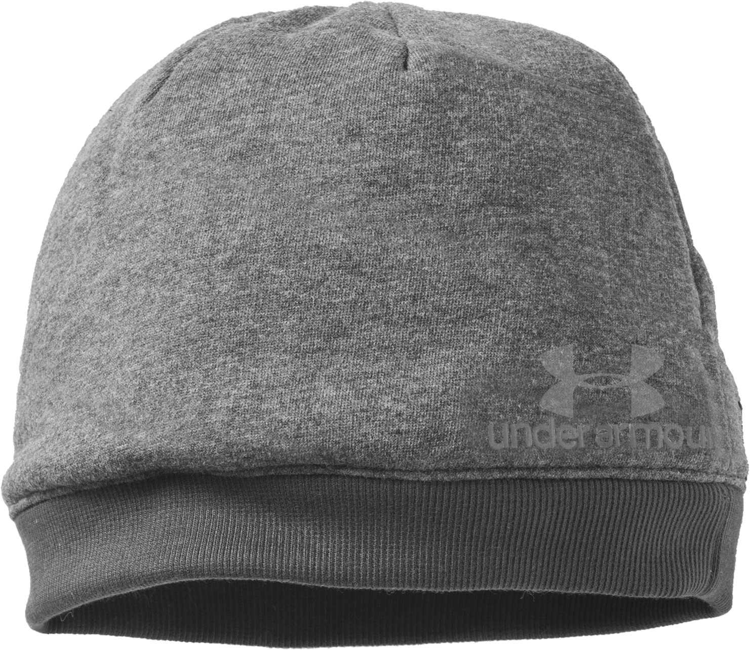 Women's UA Storm Beanie, True Gray Heather,