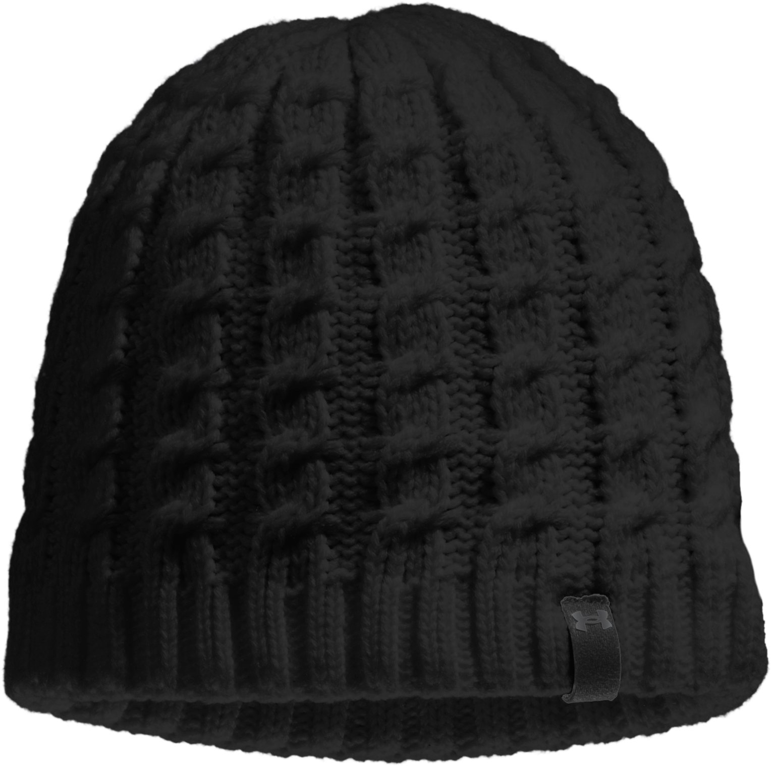 Women's UA Coffee Run Beanie, Black , zoomed image