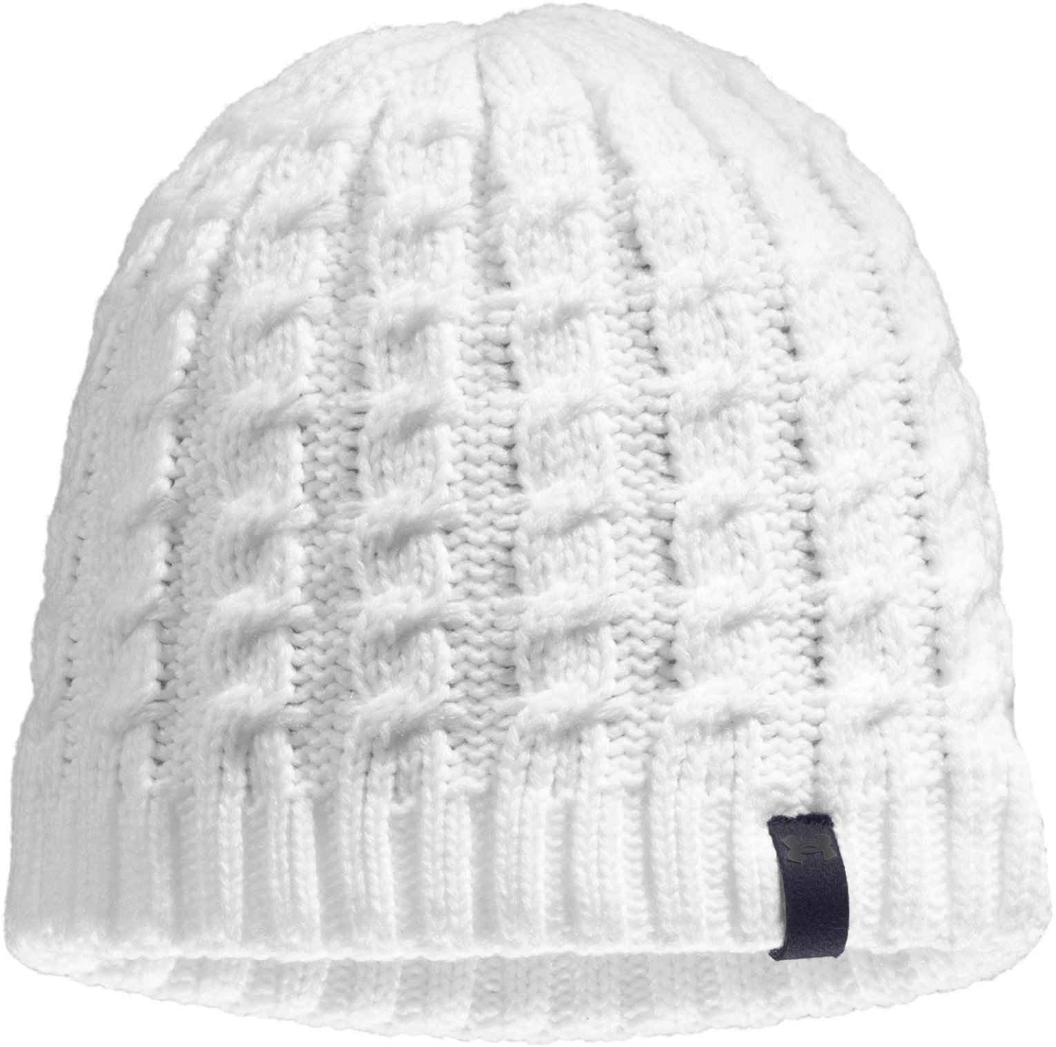 Women's UA Coffee Run Beanie, White, zoomed image