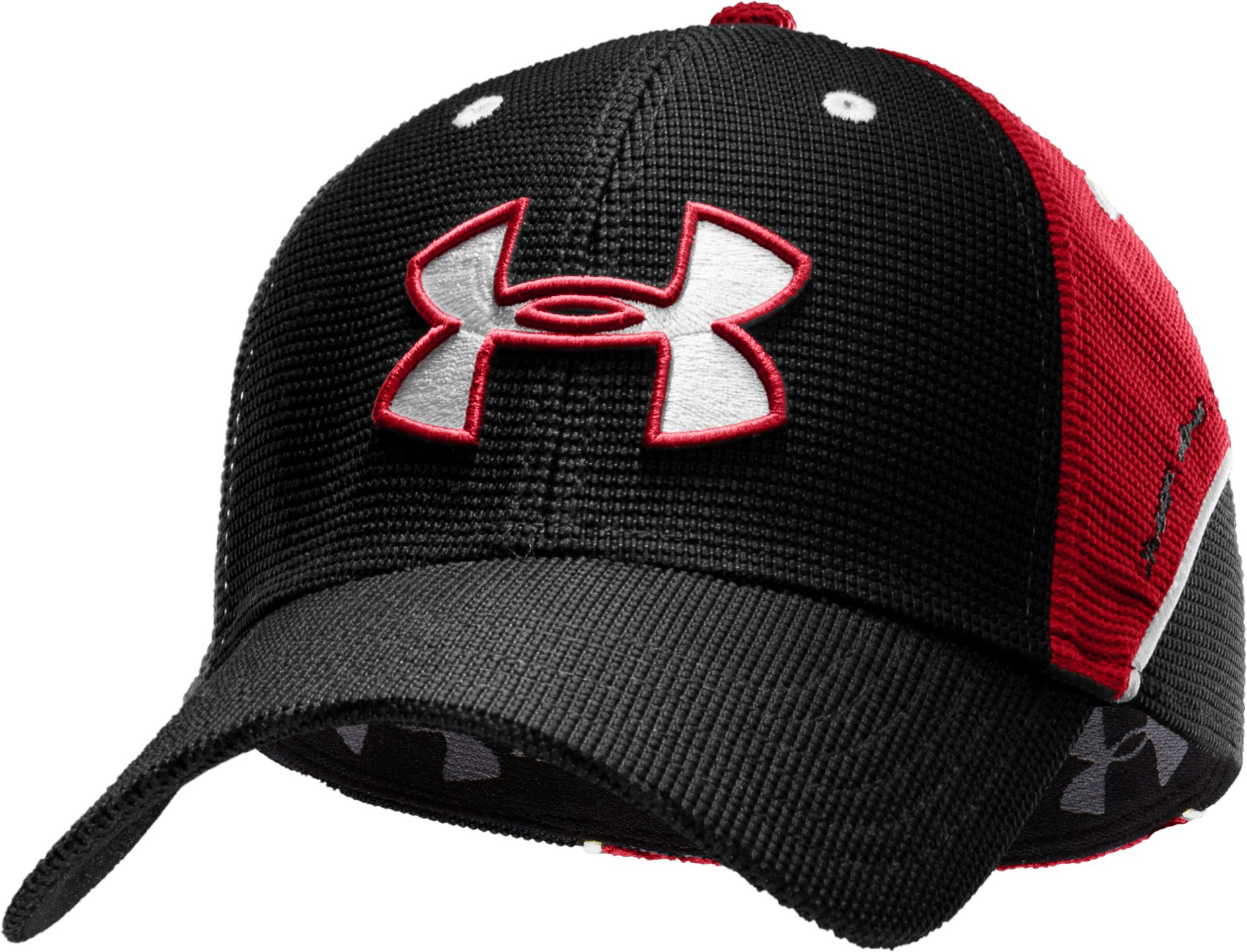 Men's UA Sideline II Stretch Fit Cap, Black ,