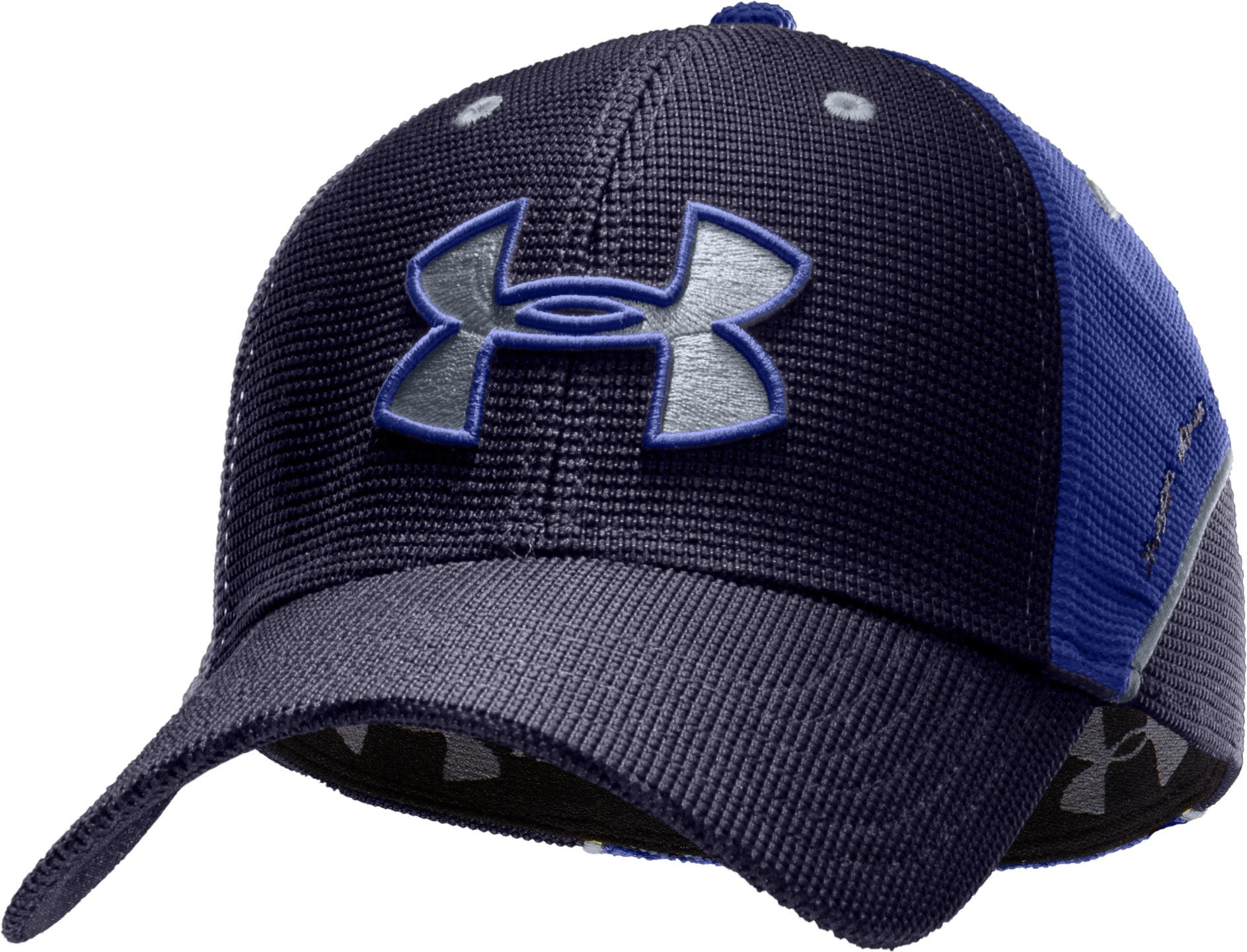 Men's UA Sideline II Stretch Fit Cap, Midnight Navy, zoomed image