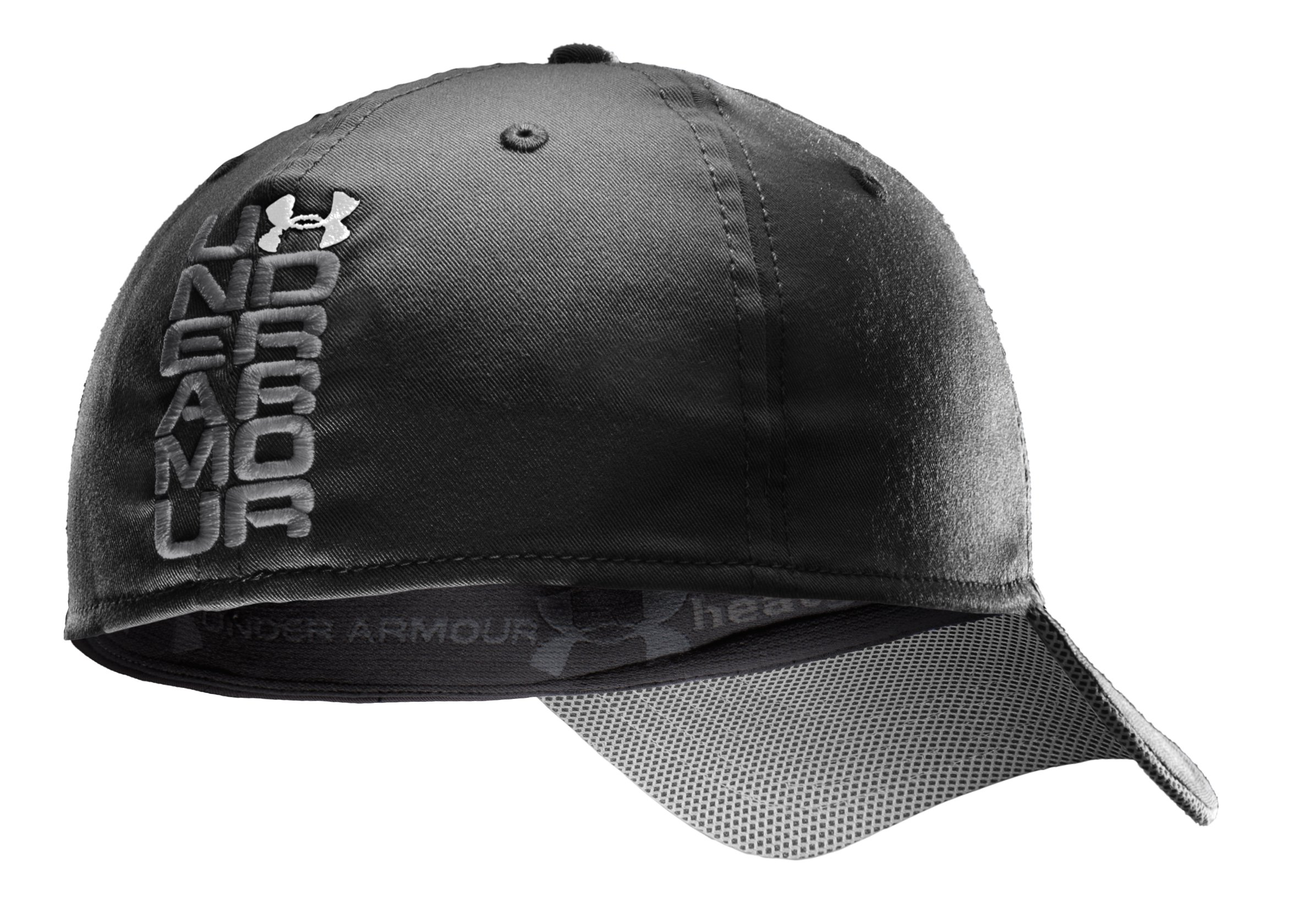 Men's UA Monster Mesh Stretch Fit Cap, Black