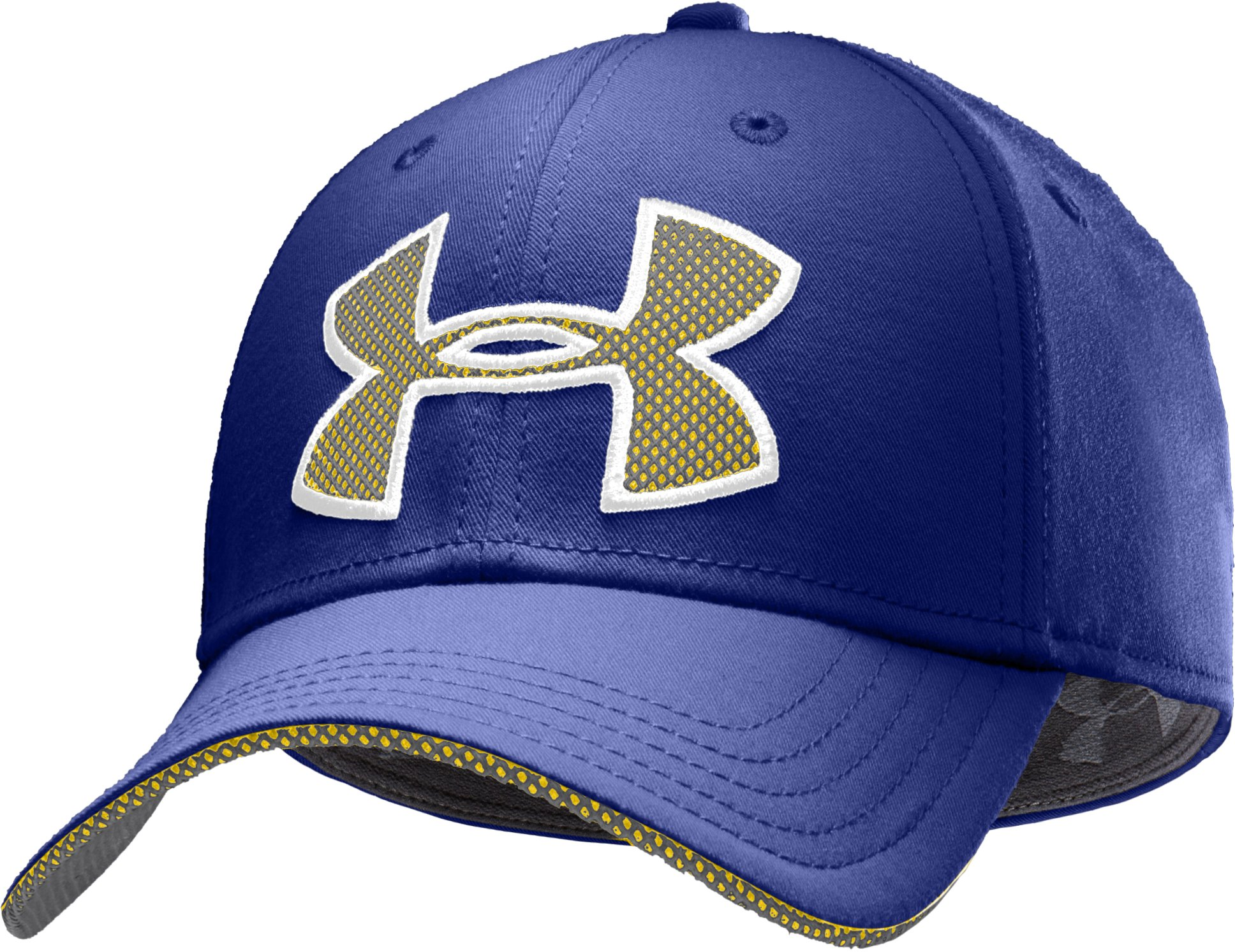 Men's UA Monster Mesh Stretch Fit Cap, Royal, zoomed image