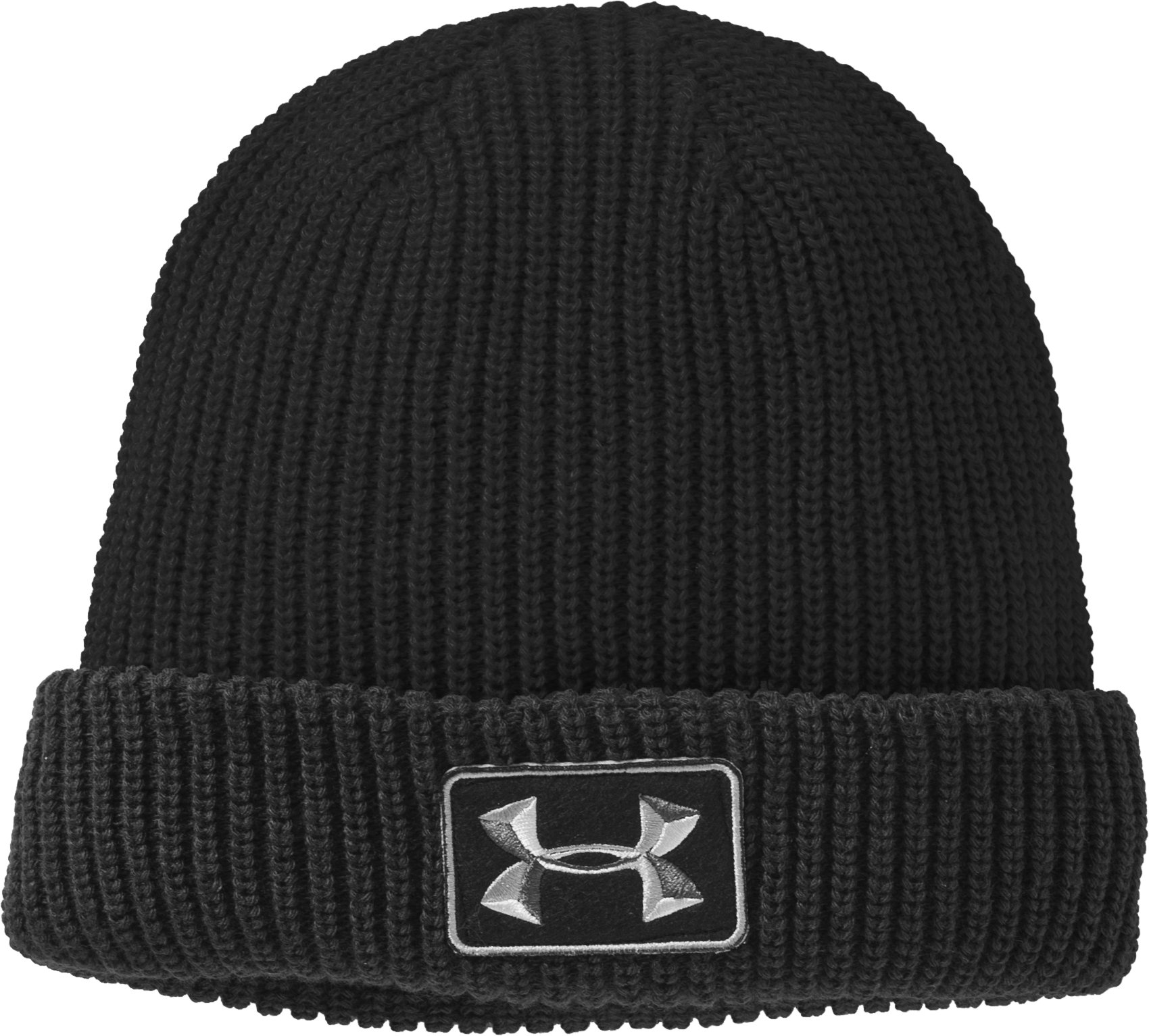 Men's UA Blocker Beanie, Black , zoomed image