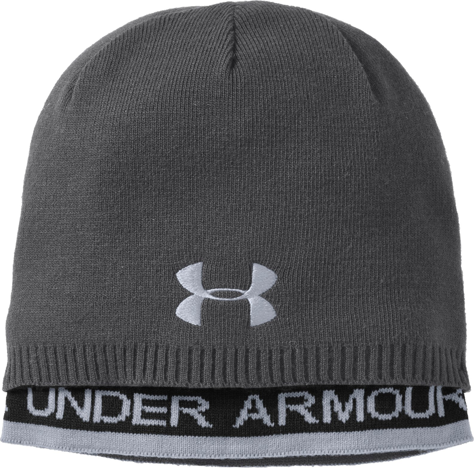 Men's UA Layered Beanie, Graphite