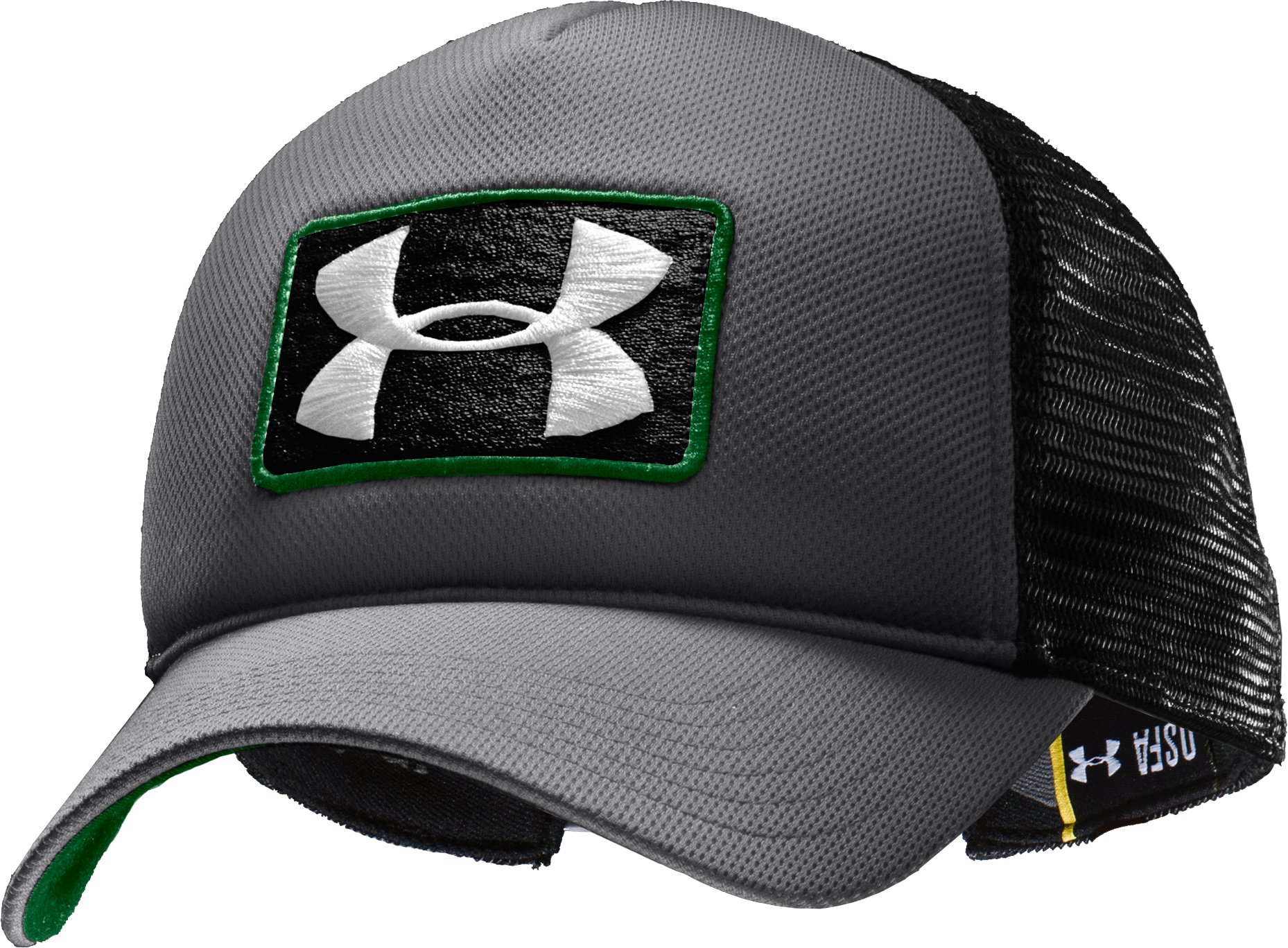Men's UA Patch Trucker Cap, Graphite, zoomed image