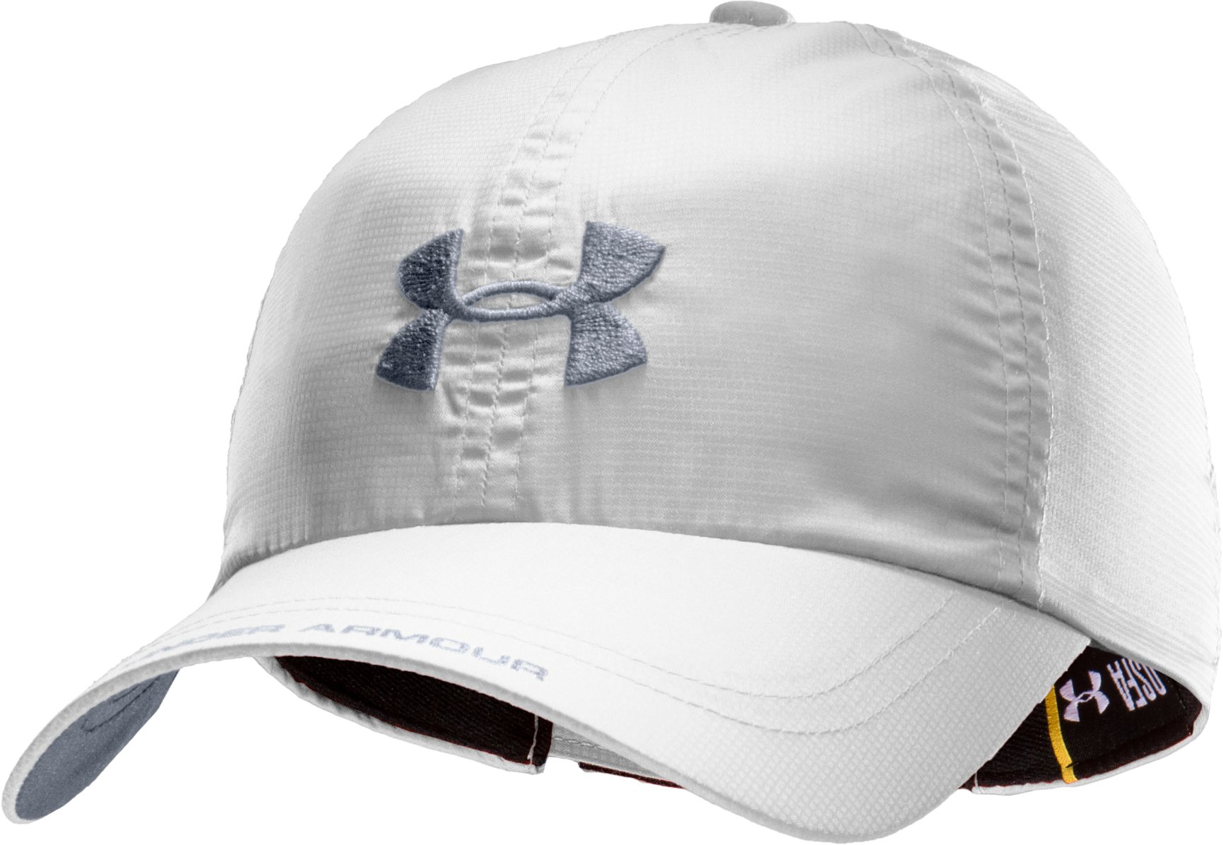 Men's UA Prestige Adjustable Run Cap, White, zoomed image