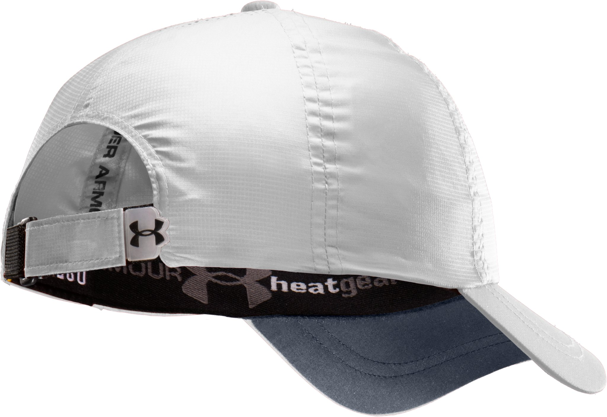 Men's UA Prestige Adjustable Run Cap, White