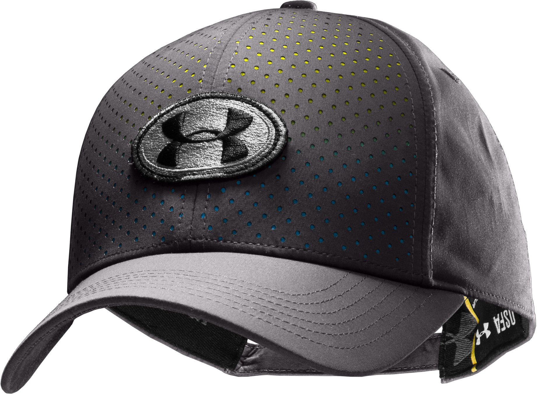 Men's UA Perf Adjustable Cap, Charcoal, zoomed image