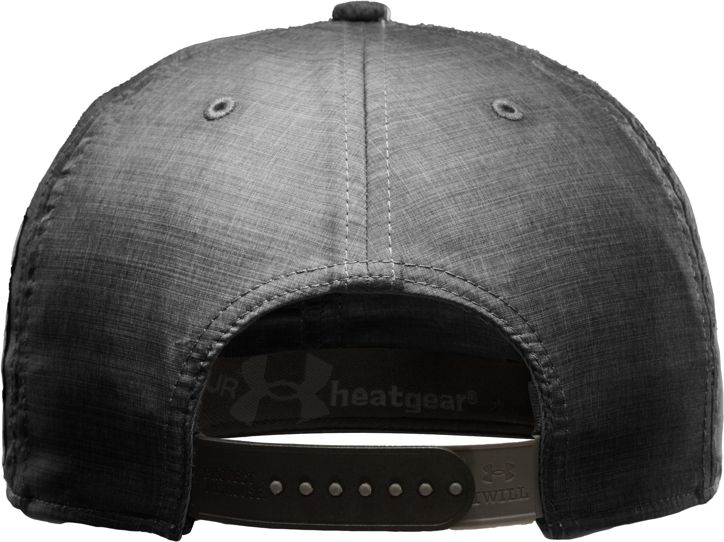 Men's UA Disposition Flat Brim Snapback Cap, Black