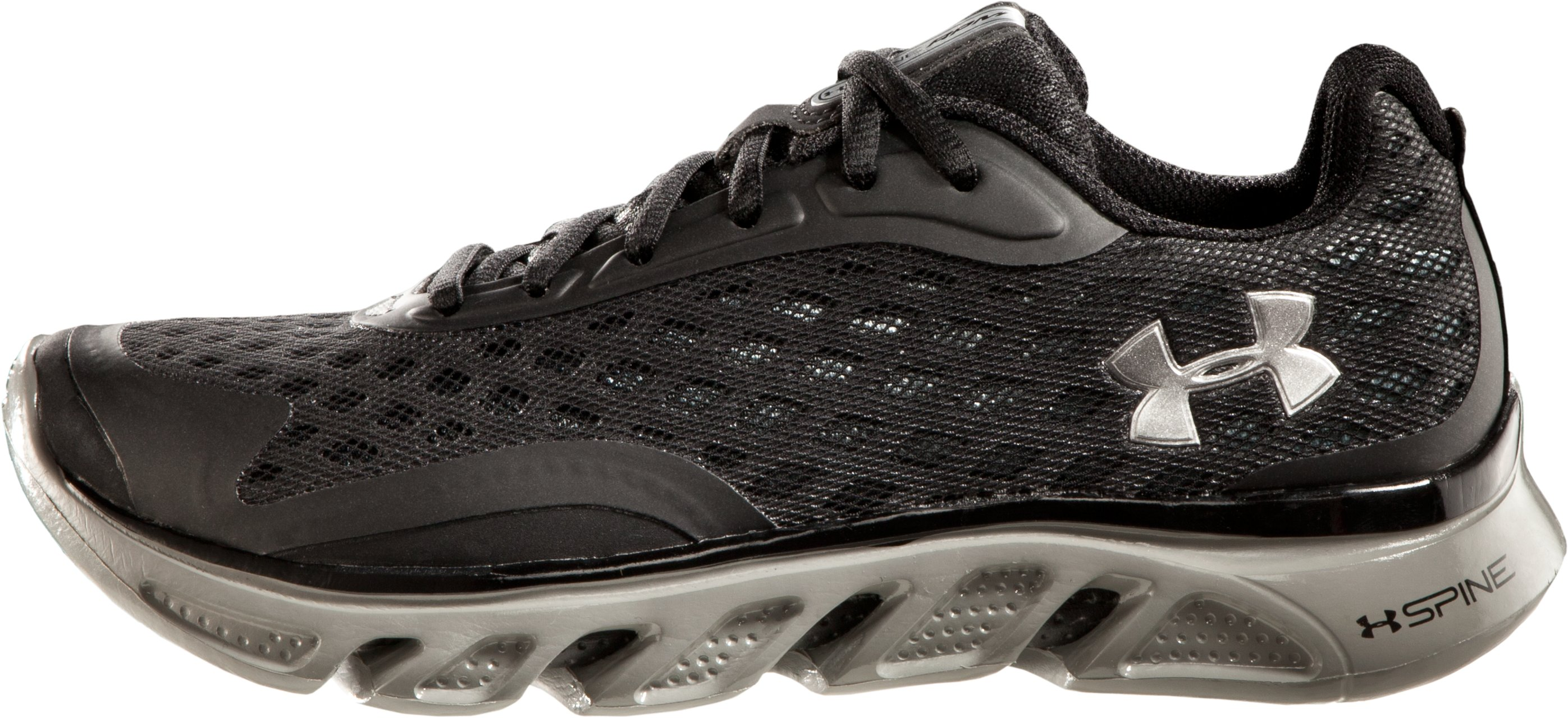 Boys' UA Spine™ Grade School Running Shoes, Black