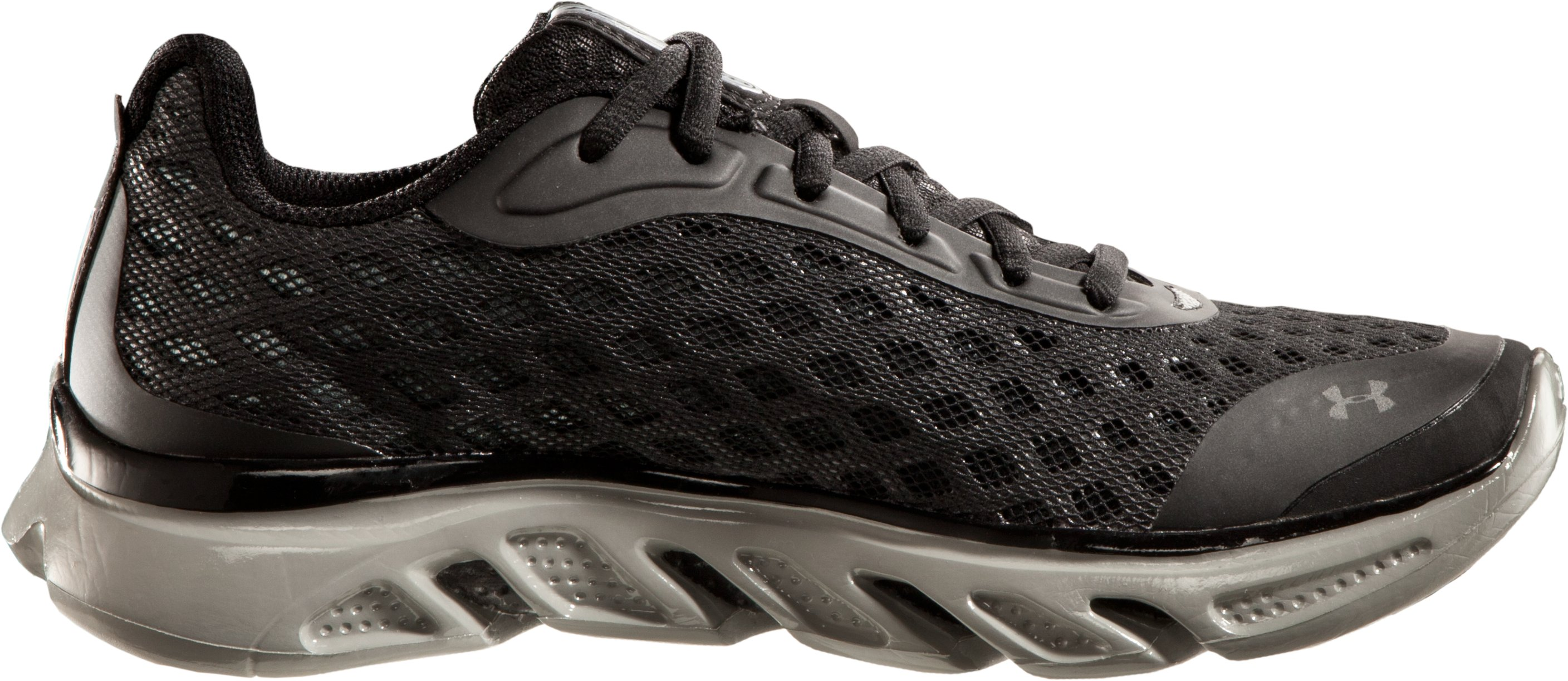 Boys' UA Spine™ Grade School Running Shoes, Black , undefined