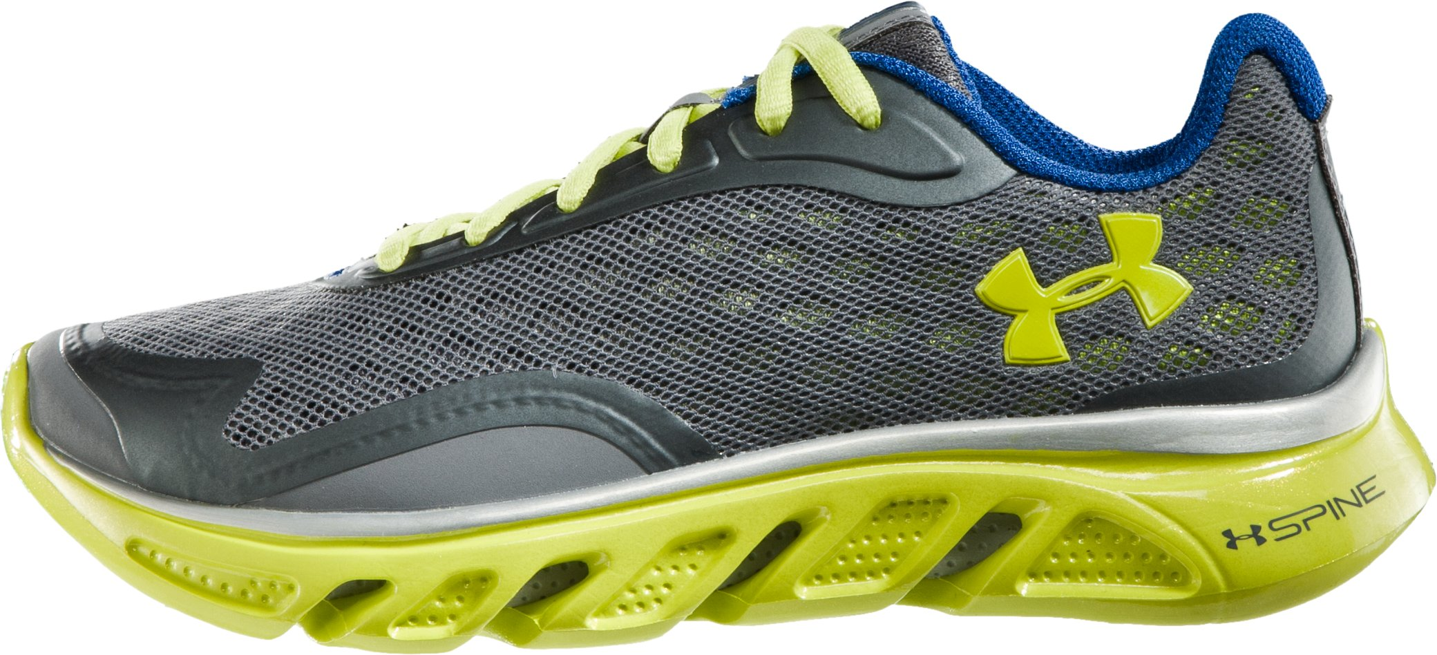 Boys' UA Spine™ Grade School Running Shoes, Graphite, zoomed image