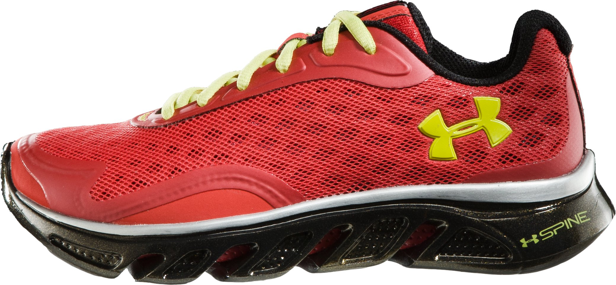 Boys' UA Spine™ Grade School Running Shoes, Red, undefined
