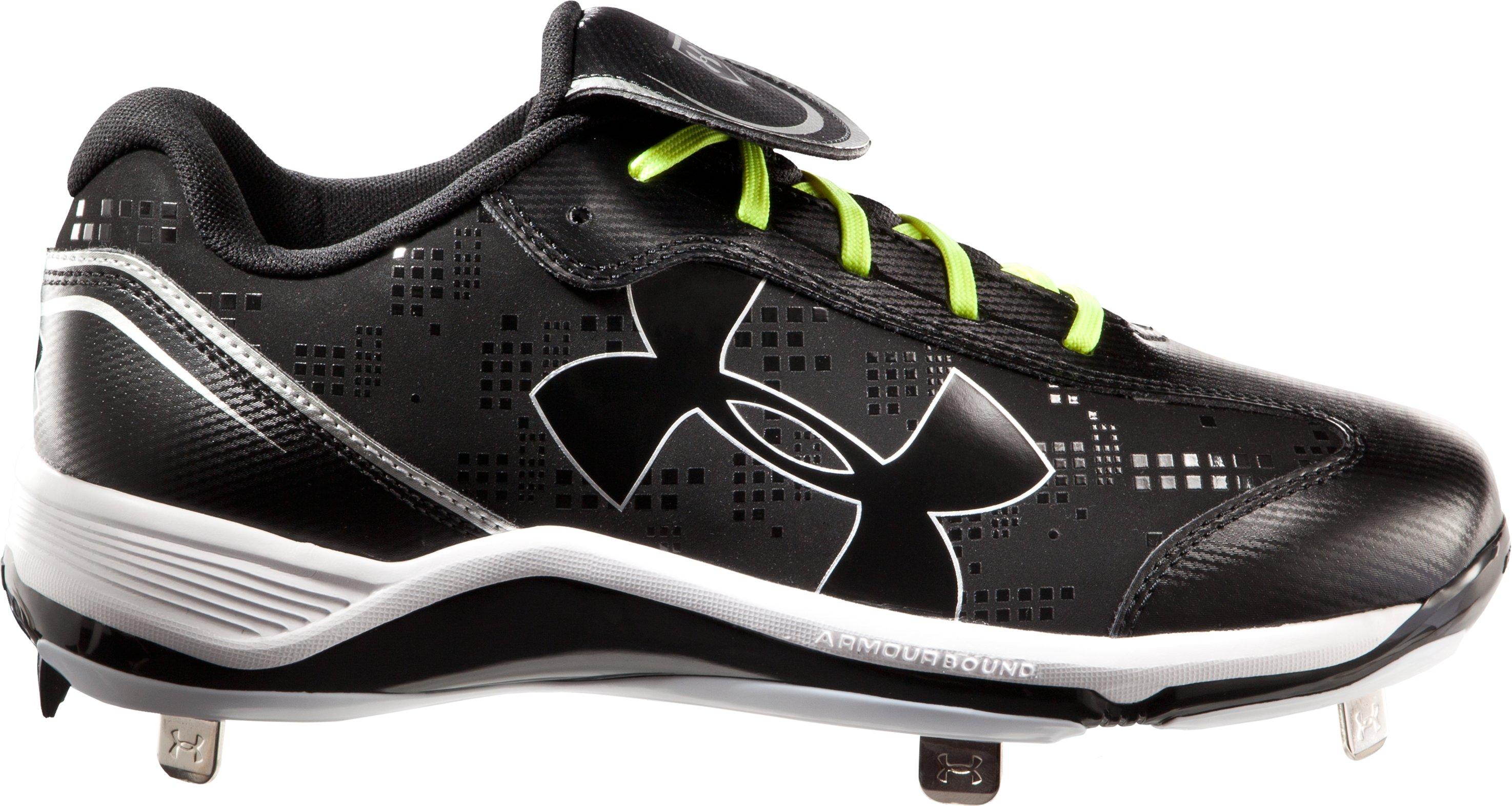 Women's UA Glyde ST Softball Cleats, Black , zoomed image