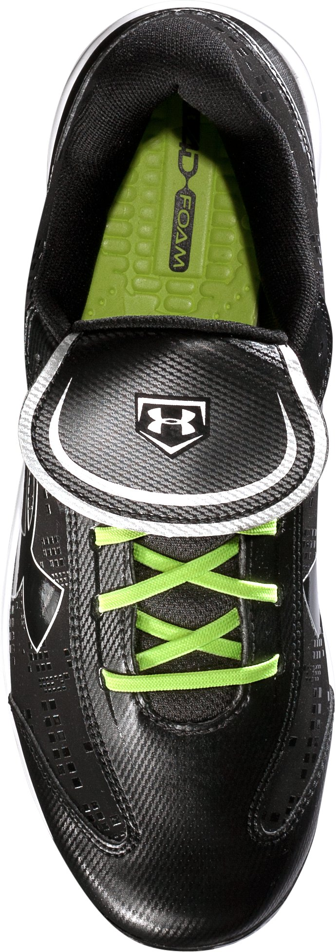 Women's UA Glyde ST Softball Cleats, Black , undefined