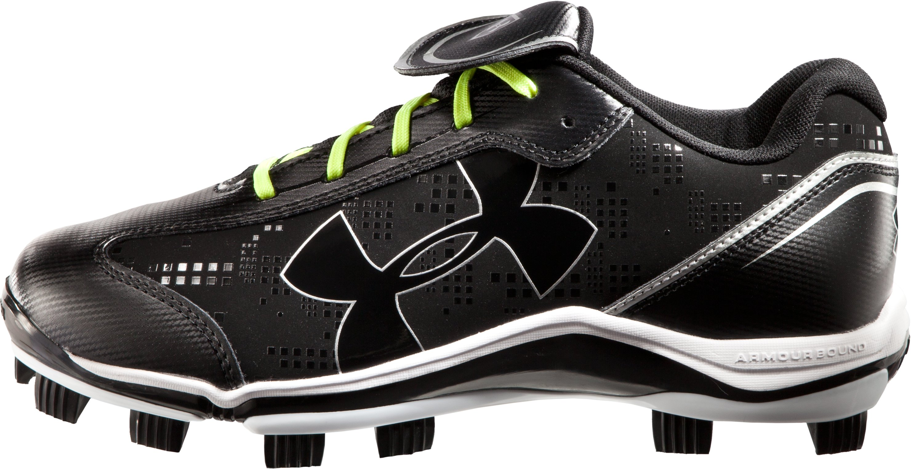 Women's UA Glyde TPU Softball Cleats, Black