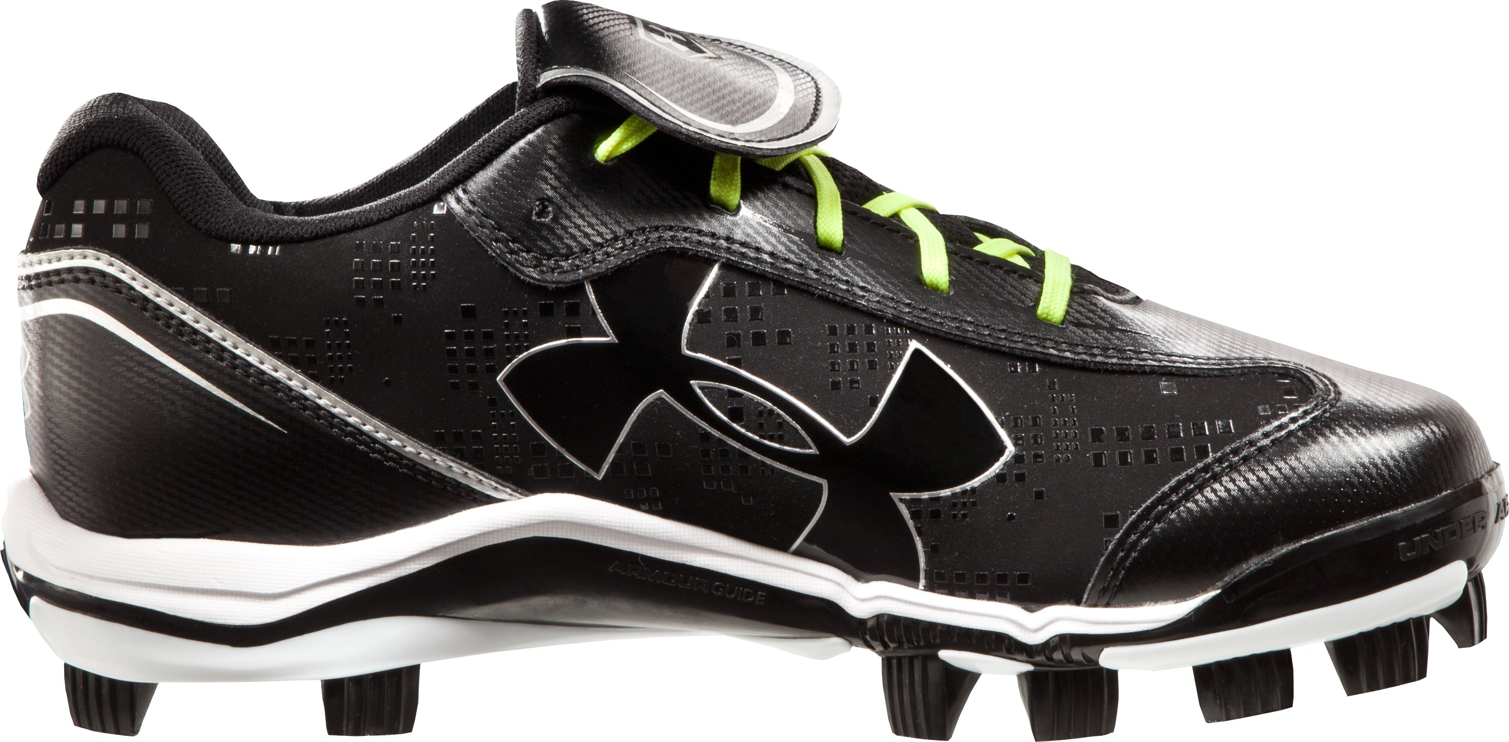 Women's UA Glyde TPU Softball Cleats, Black , zoomed image