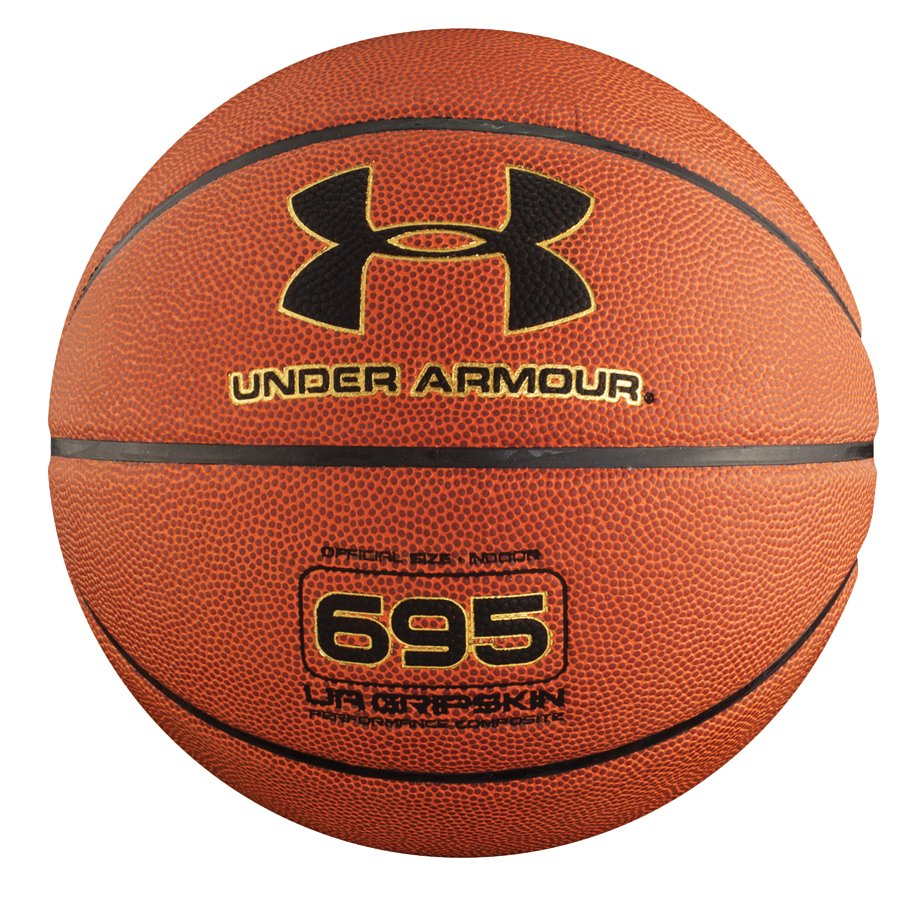 UA 695 Indoor Basketball, Dark Orange, zoomed image
