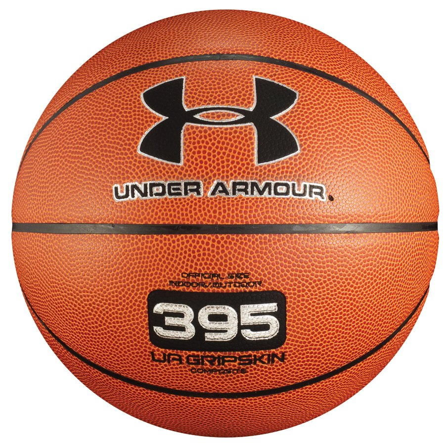 UA 395 Indoor/Outdoor Basketball, Dark Orange,