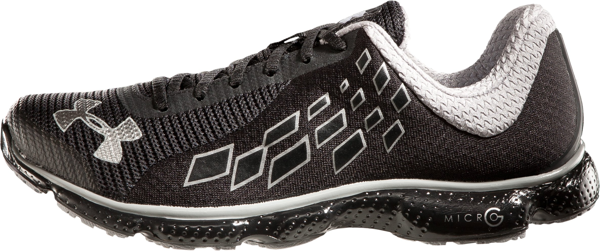 Men's UA Micro G® Stealth Running Shoes, Black , zoomed image
