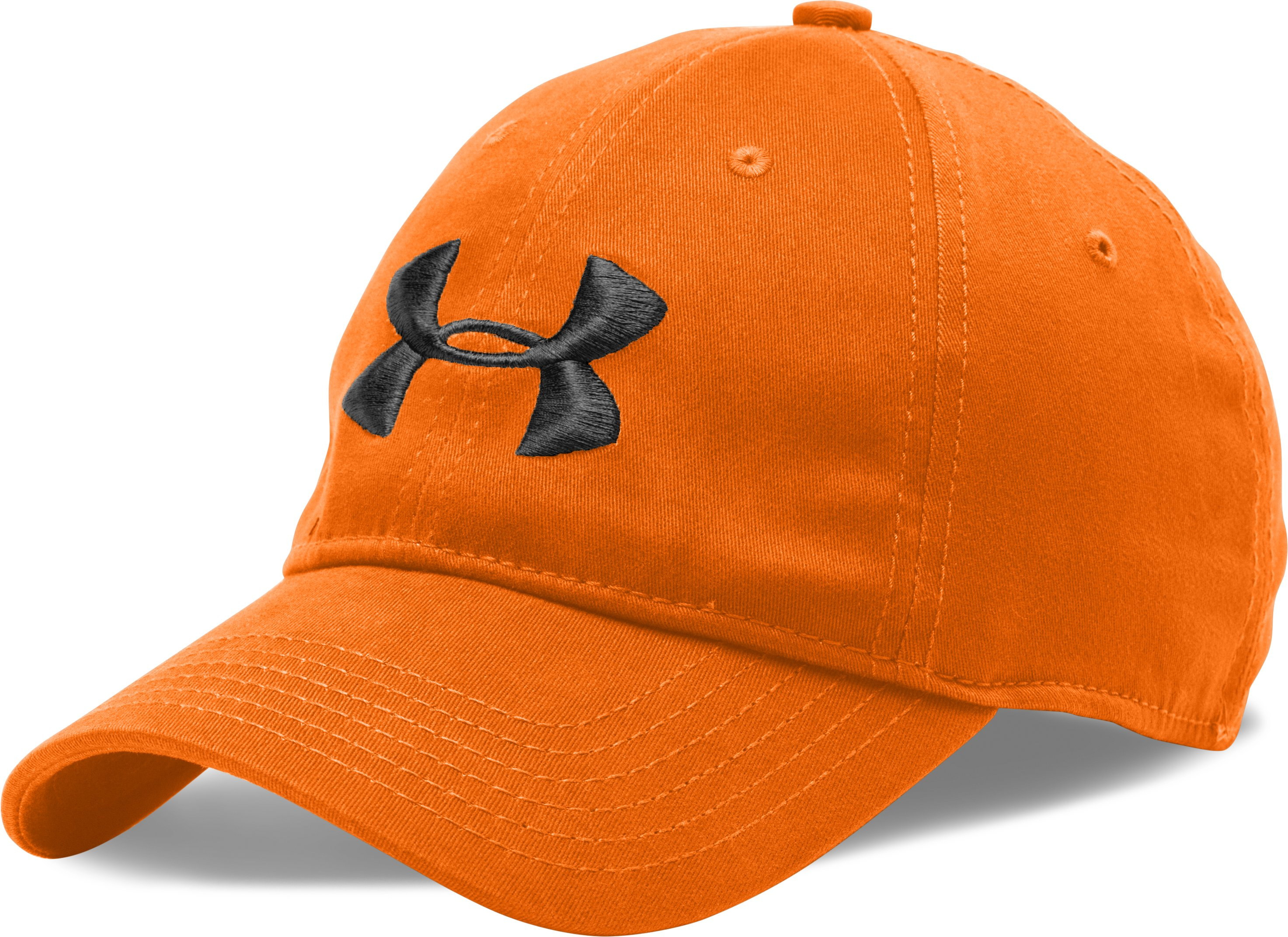Men's UA Classic Stretch Fit Cap, Blaze Orange, zoomed image