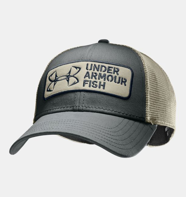 Men s ua fish hook patch adjustable cap under armour us for Under armor fishing hat