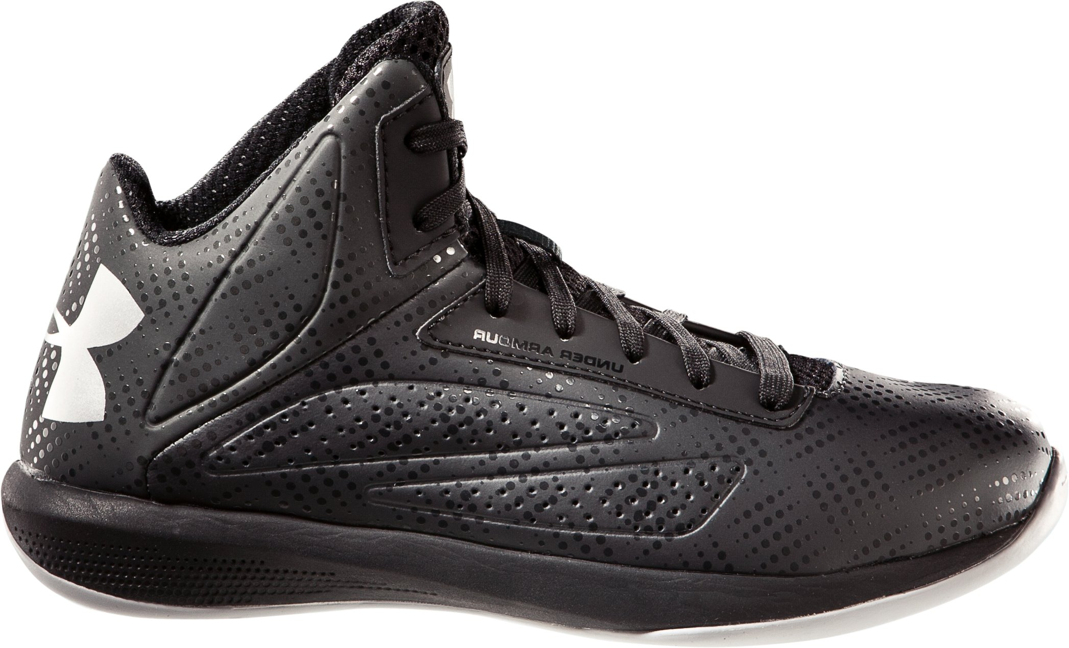 Boys' UA Torch Basketball Shoes, Black , zoomed image