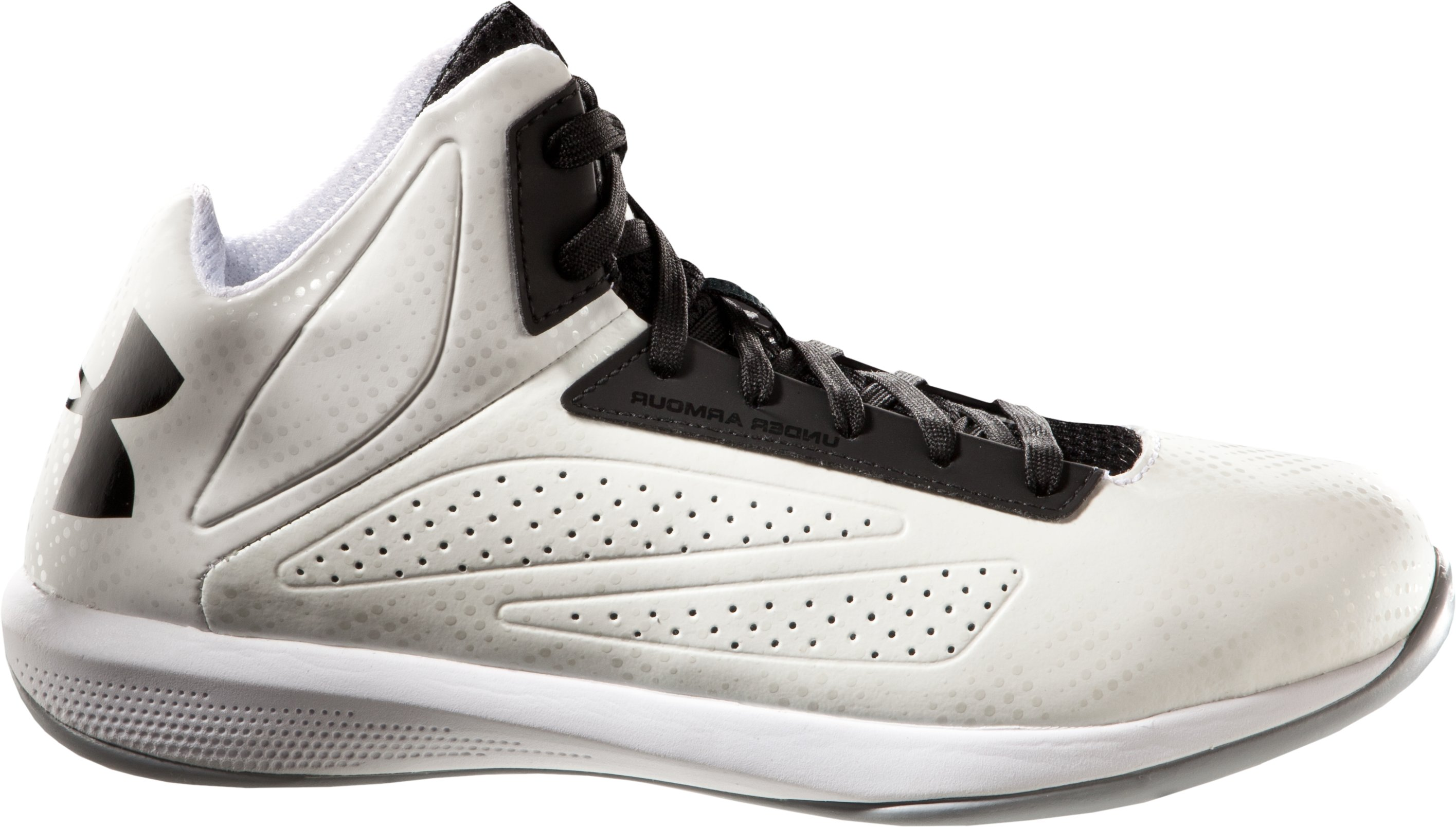 Boys' UA Torch Basketball Shoes, White, undefined