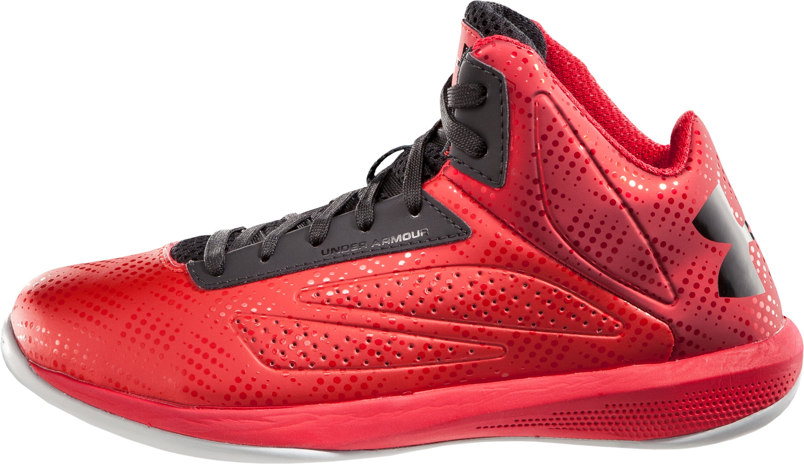 Boys' UA Torch Basketball Shoes, Red, zoomed image