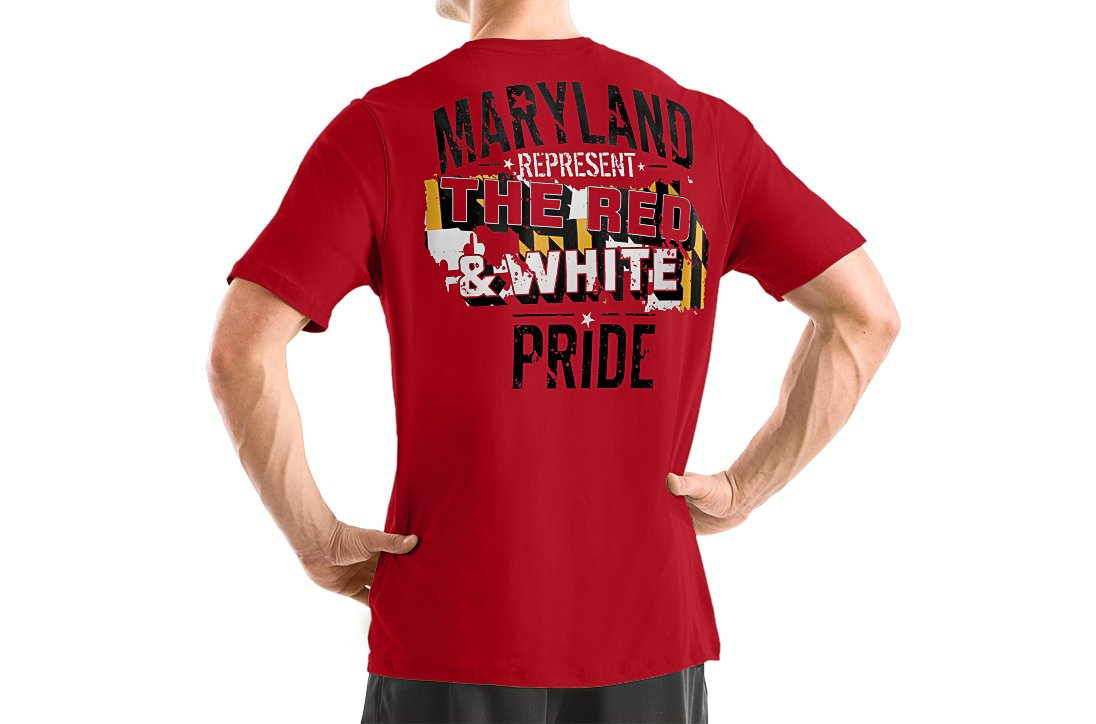 Men's Maryland Represent Graphic T-Shirt, Red, zoomed image
