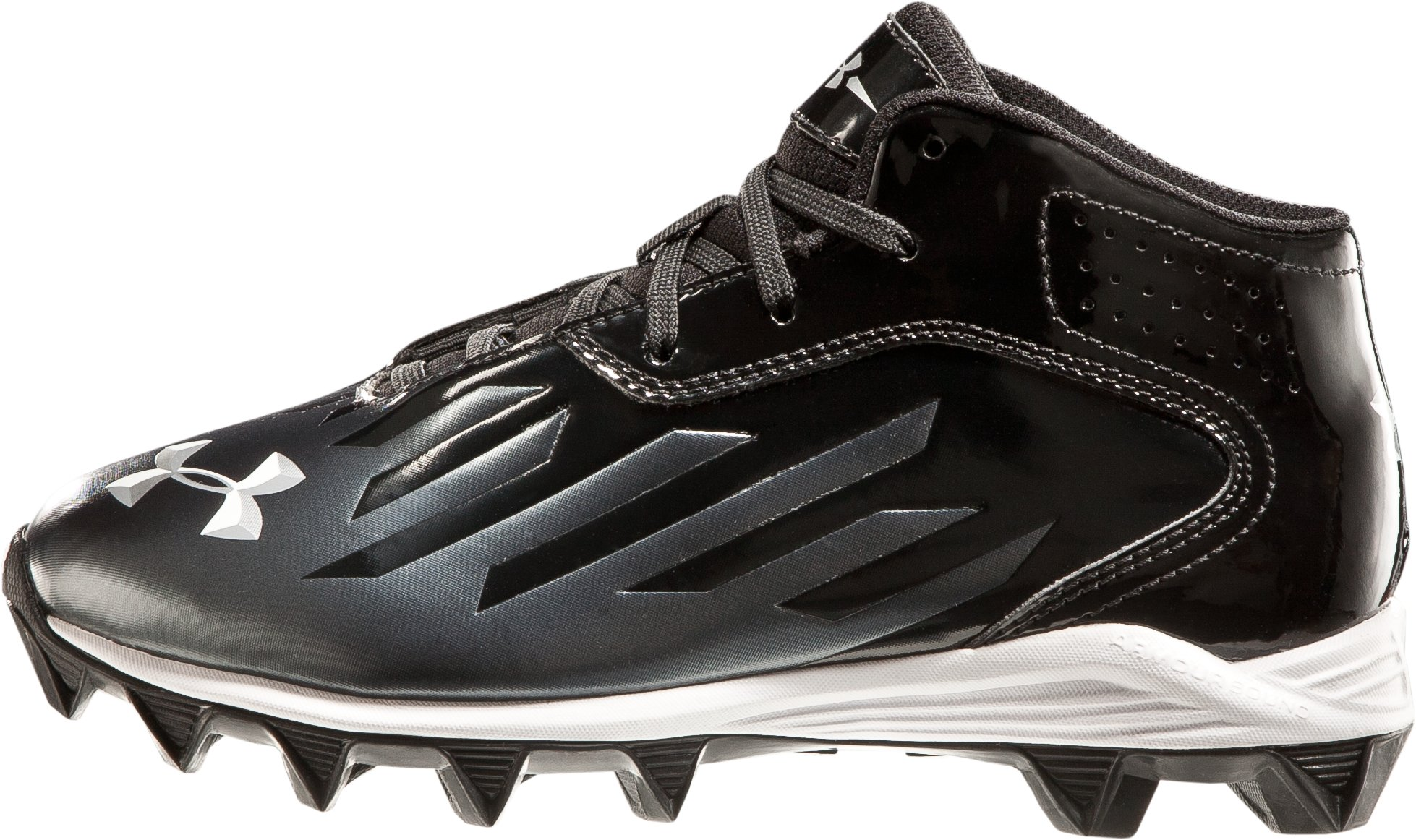 Boys' UA Nitro Diablo RM Football Cleats, Black , zoomed image