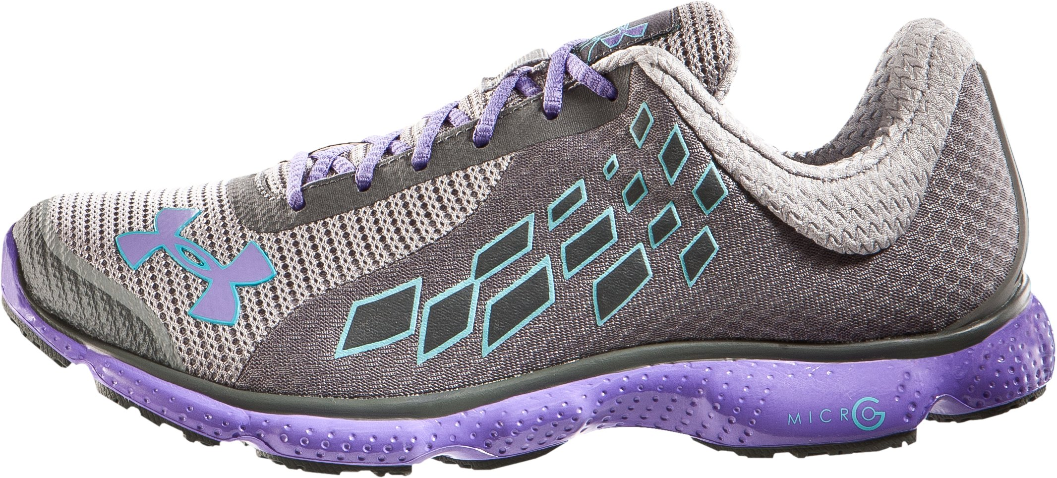 UA Women's UA Micro G® Stealth Running Shoes, Steel, zoomed image