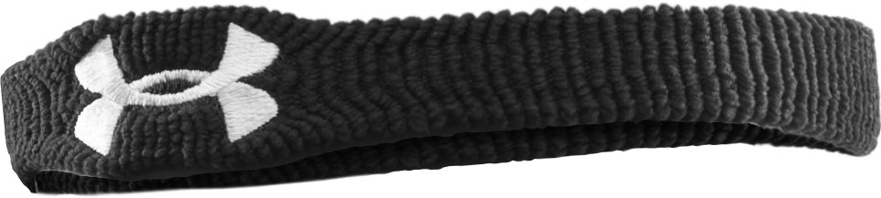 "UA 1"" Performance Wristband 4-Pack, Black , zoomed image"