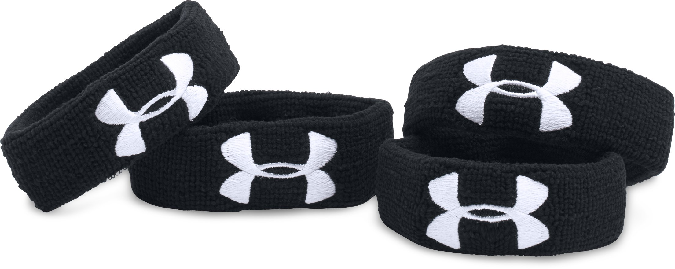 "UA 1"" Performance Wristband 4-Pack 2 Colors $12.99"