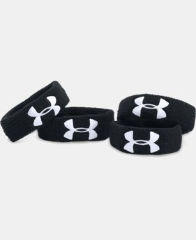 "UA 1"" Performance Wristband 4-Pack  1  Color Available $12.99"