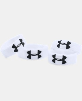 "UA 1"" Performance Wristband 4-Pack  1 Color $12.99"